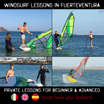 banner windsurf course in Fuerteventura