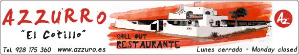 restaurante chill out Azzuro El Cotillo