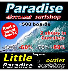 Paradise surfshop Fuerteventura